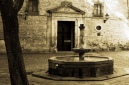 Plaza de San Felipe Neri near Nuria Monfort's apartment.